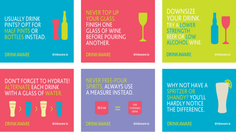 Cover tips to cut down on alcohol - Drinkaware Ireland